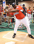 Quinton Aaron at the MLB All Star Fanfest Batting Practice held at The Anaheim Convention Center , the precursor to The All Star Legends Celebrity Softball game in Anaheim, California on July 11,2010                                                                               © 2010 Debbie VanStory / Hollywood Press Agency