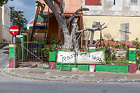 Willemstad, Curacao, Lesser Antilles.  Rastafarian Car Wash Site, Attendant Temporarily Absent.