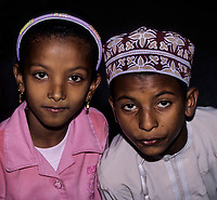 Muscat, Oman.  Brother and Sister.