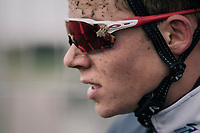 french rider that got to study the sand up close...<br /> <br /> U23 race<br /> <br /> UCI cyclocross World Cup Koksijde / Belgium 2017