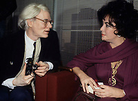 Andy Warhol & Liz Taylor 1978 Photo by Adam Scull-PHOTOlink.net