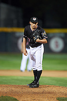 Erie SeaWolves relief pitcher Paul Voelker (3) during a game against the Bowie Baysox on May 12, 2016 at Jerry Uht Park in Erie, Pennsylvania.  Bowie defeated Erie 6-5.  (Mike Janes/Four Seam Images)