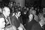 MARCELLO MASTROIANNI E SOFIA LOREN -  FUNERALI VITTORIO DE SICA ROMA 1974