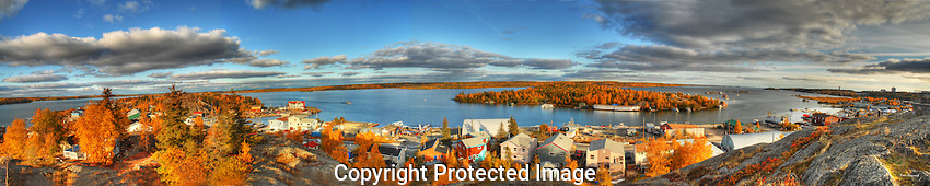 September view from Pilot's Monument in Yellowknife. Original file is 100 MB.