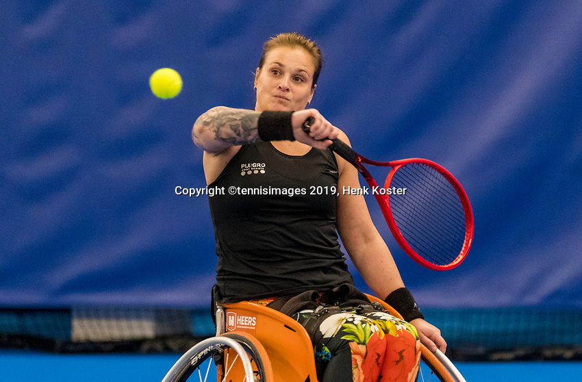 Amstelveen, Netherlands, 8  December, 2020, National Tennis Center, NTC, NKR, National  Indoor Wheelchair Tennis Championships, women's  single: 	<br /> Kelly van der Ven (NED)<br /> Photo: Henk Koster/tennisimages.com