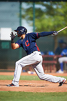 Cleveland Indians Erik Gonzalez (7) during an Instructional League game against the Kansas City Royals on October 11, 2016 at the Cleveland Indians Player Development Complex in Goodyear, Arizona.  (Mike Janes/Four Seam Images)