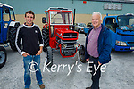 At the Paudie Fitzmaurice Tractor Run in Castleisland on Sunday, l to r: Alan and Bill Roche (Knocknagoshel).