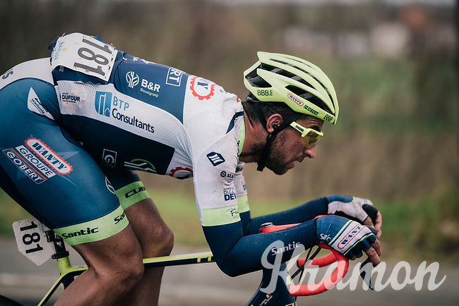 Ludwig De Winter (BEL/Wanty - Gobert) tucked for speed<br /> <br /> 71th Kuurne-Brussel-Kuurne 2019 <br /> Kuurne to Kuurne (BEL): 201km<br /> <br /> ©kramon