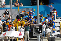#05 Dinan BMW/Riley, winners Bill Auberlin & Matt Alhadeff celebrate in Victory Lane.