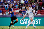 Chelsea Forward Alvaro Morata (R) looks to bring the ball down during the International Champions Cup 2017 match between FC Internazionale and Chelsea FC on July 29, 2017 in Singapore. Photo by Marcio Rodrigo Machado / Power Sport Images
