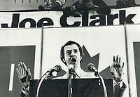 1979 FILE PHOTO - ARCHIVES -<br /> <br /> Clark; Joe (election campaign 1979)<br /> <br /> Bezant, Graham<br /> Picture, 1979<br /> <br /> 1979,<br /> <br /> PHOTO : Graham Bezant - Toronto Star Archives - AQP