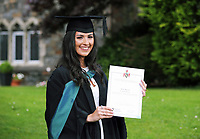 Monday 03 July 2017<br /> UWTSD Graduation ceremony at the University of Wales Trinity Saint Davids, Carmarthen Campus, Wales, UK