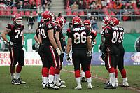 Teamhuddle der Cologne Centurions
