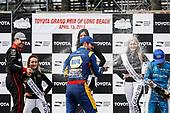 Will Power, Team Penske Chevrolet, Alexander Rossi, Andretti Autosport Honda, Ed Jones, Chip Ganassi Racing Honda, podium, champagne
