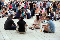 Pictured: Revellers. Wednesday 02 July 2014<br />