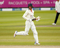 28th May 2021; Emirates Old Trafford, Manchester, Lancashire, England; County Championship Cricket, Lancashire versus Yorkshire, Day 2; Keaton Jennings of Lancashire runs between the wickets