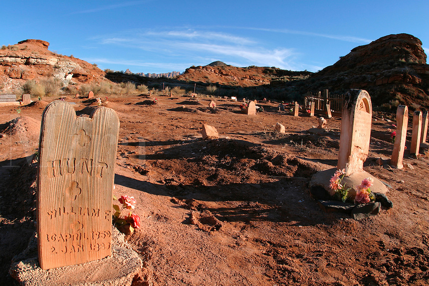 Graves, Grafton Cemetery (ghost town), Rockville, Washington County, U