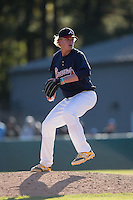 Nic Enright (38) of The Steward School in Richmond, Virginia playing for the Atlanta Braves scout team at the South Atlantic Border Battle at Doak Field on November 2, 2014.  (Brian Westerholt/Four Seam Images)