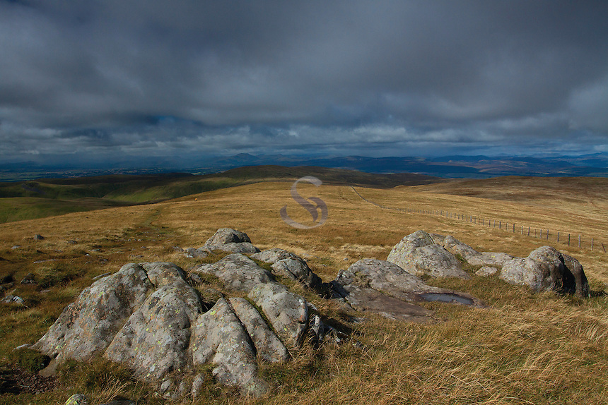 The Southern Highlands from Ben Cleuch, the Ochil Hills, Tillicoultry, Clackmannanshire