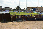 Lowestoft Town 2 AFC Barrow 3, 25/04/2015. Crown Meadow, Conference North. Barrow make the six-hour trip to Suffolk needing a win to secure the title. A view of the match from behind the North end of the ground. Photo by Simon Gill.