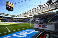 16th May 2020, Commerzbank-Arena, Frankfurt, Germany; Bundesliga football, Eintracht Frankfurt versus Borussia Moenchangladbach; An empty stadium before the match starts