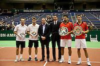 14-2-10, Rotterdam, Tennis, ABNAMROWTT, Prijsuitreiking dubbel