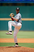Daniel Corona (17) of Baylor High School in Brooklyn, NY during the Perfect Game National Showcase at Hoover Metropolitan Stadium on June 18, 2020 in Hoover, Alabama. (Mike Janes/Four Seam Images)