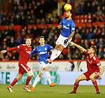 06.02.2019: Aberdeen v Rangers: Daniel Candeias wins the ball
