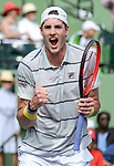 March 28 2018: John Isner (USA) defeats Hyeon Chung (KOR) by 6-1, 6-4, at the Miami Open being played at Crandon Park Tennis Center in Miami, Key Biscayne, Florida. ©Karla Kinne/Tennisclix/CSM