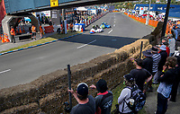 Nick and Wendy Morgan lead Morgan and Dion Marshall in the F1-F2 sidecars. The 2019 Suzuki International Series Cemetery Circuit motorcycle raceday at Cooks Gardens in Wanganui, New Zealand on Thursday, 26 December 2019. Photo: Dave Lintott / lintottphoto.co.nz