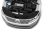 Car Stock 2017 Volkswagen CC Sport 4 Door Sedan Engine  high angle detail view