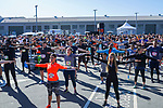 Runners compete at the Bloomberg Square Mile Relay race across Pier 27 at the James R. Herman Cruise Terminal on on 2nd August 2018, in San Francisco, California, United States. Photo by Alison Brown / Power Sport Images