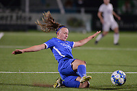 Fleur Pauwels (66) of KRC Genk slides to tackle the ball during a female soccer game between  Racing Genk Ladies and Royal Sporting Club Anderlecht , a delayed game from the 1st  matchday of the 2021-2022 season of the Belgian Scooore Womens Super League , tuesday 28 September 2021  in Genk , Belgium . PHOTO SPORTPIX | JILL DELSAUX