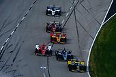 #26: Colton Herta, Andretti Autosport Honda, #20: Ed Carpenter, Ed Carpenter Racing Chevrolet, #8: Marcus Ericsson, Chip Ganassi Racing Honda