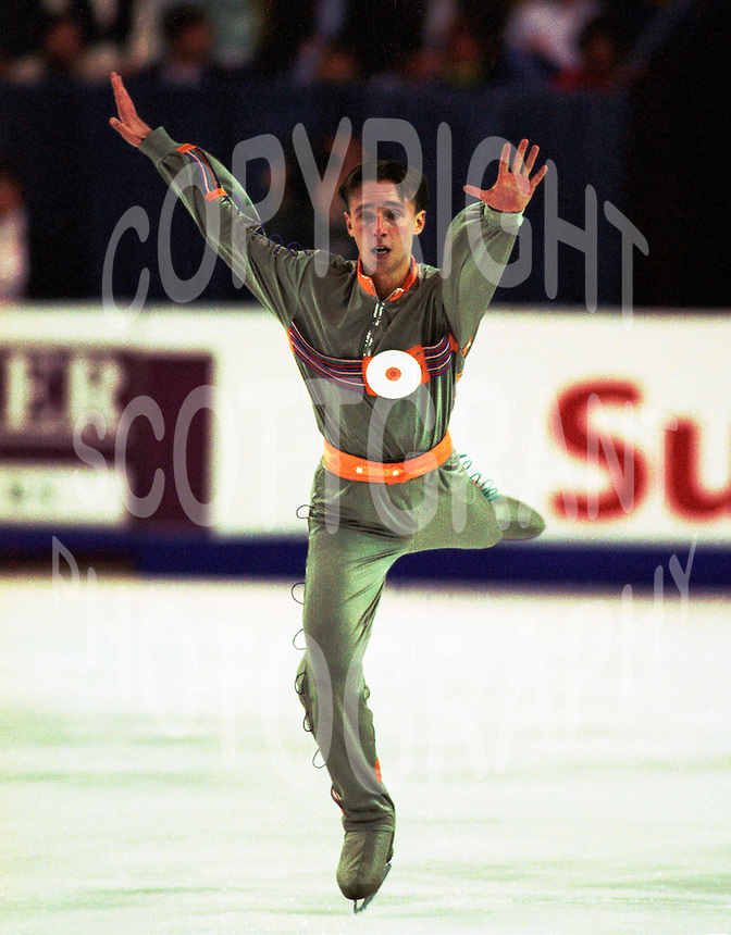 Dmitry Dmintrenko of the Ukraine competes at Skate Canada. Photo copyright Scott Grant.