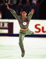 Dmitry Dmintrenko of the Ukraine competes at Skate Canada. Photo copyright Scott Grant.