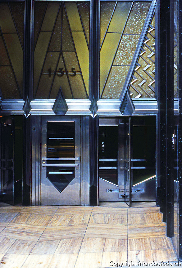New York: American Radiator Building, entrance. Photo '78.
