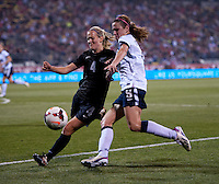 Heather O'Reilly, Katie Hoyle. The USWNT tied New Zealand, 1-1, at an international friendly at Crew Stadium in Columbus, OH.