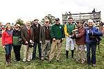 Members of the horse Sky Count accepts the trophy of The Martha S Wadsworth Memorial and the purse of $10,000 during the Genesee Valley Hunt Races on The Nations Farm in Geneseo, New York on October 13, 2012