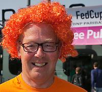 The Netherlands, Den Bosch, 20.04.2014. Fed Cup Netherlands-Japan, Dutch Supporter<br /> Photo:Tennisimages/Henk Koster