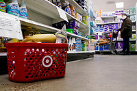 NEW YORK, NEW YORK - MARCH 02: A Target basket is seen inside the store on March 02, 2021 in New York. Target hopes to build a growth by investing about $ 4 billion annually for the next years to accelerate the consolidation of new stores, upgrade existing ones and enhance its capacity to fulfill online orders. (Photo by Emaz/VIEWpress)