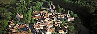 Europe/France/Aquitaine/24/Dordogne/Vallée de la Dordogne/Saint-Léon-sur-Vézère: La ville  , Vue aérienne