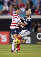 Carli Lloyd, Rhonda Jones.  The USWNT defeated Scotland, 4-1, during a friendly at EverBank Field in Jacksonville, Florida.