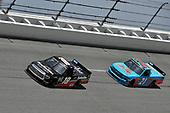 #18: Christian Eckes, Kyle Busch Motorsports, Toyota Tundra Safelite AutoGlass, #21: Zane Smith, GMS Racing, Chevrolet Silverado LaPaz