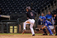ASU Sun Devils Aliki Williams (5) at bat during an Instructional League game against the Texas Rangers at Surprise Stadium on October 6, 2018 in Surprise, Arizona. (Zachary Lucy/Four Seam Images)