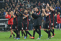 Eintracht Jubel nach dem Punktgewinn gegen Bayern - Eintracht Frankfurt vs. FC Bayern Muenchen, Commerzbank Arena