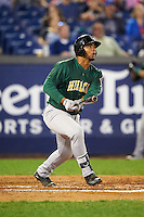 Lynchburg Hillcats first baseman Bobby Bradley (44) at bat during a game against the Wilmington Blue Rocks on June 3, 2016 at Judy Johnson Field at Daniel S. Frawley Stadium in Wilmington, Delaware.  Lynchburg defeated Wilmington 16-11 in ten innings.  (Mike Janes/Four Seam Images)