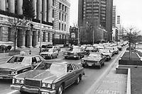 cars in Toronto - Traffic - Miscellaneous - 1975<br /> <br /> Photo : Boris Spremo - Toronto Star archives - AQP