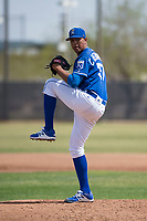 Kansas City Royals starting pitcher Carlos Hernandez (57) during a Minor League Spring Training game against the Milwaukee Brewers at Maryvale Baseball Park on March 25, 2018 in Phoenix, Arizona. (Zachary Lucy/Four Seam Images)