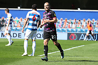 24th April 2021; The Kiyan Prince Foundation Stadium, London, England; English Football League Championship Football, Queen Park Rangers versus Norwich; Teemu Pukki of Norwich City celebrates the goal by Xavi Quintilla for 0-1 in the 32nd minute